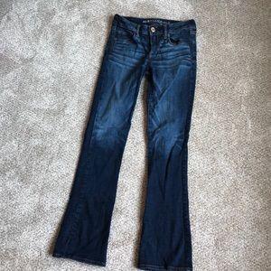 Dark Wash American Eagle Skinny Kick Jeans